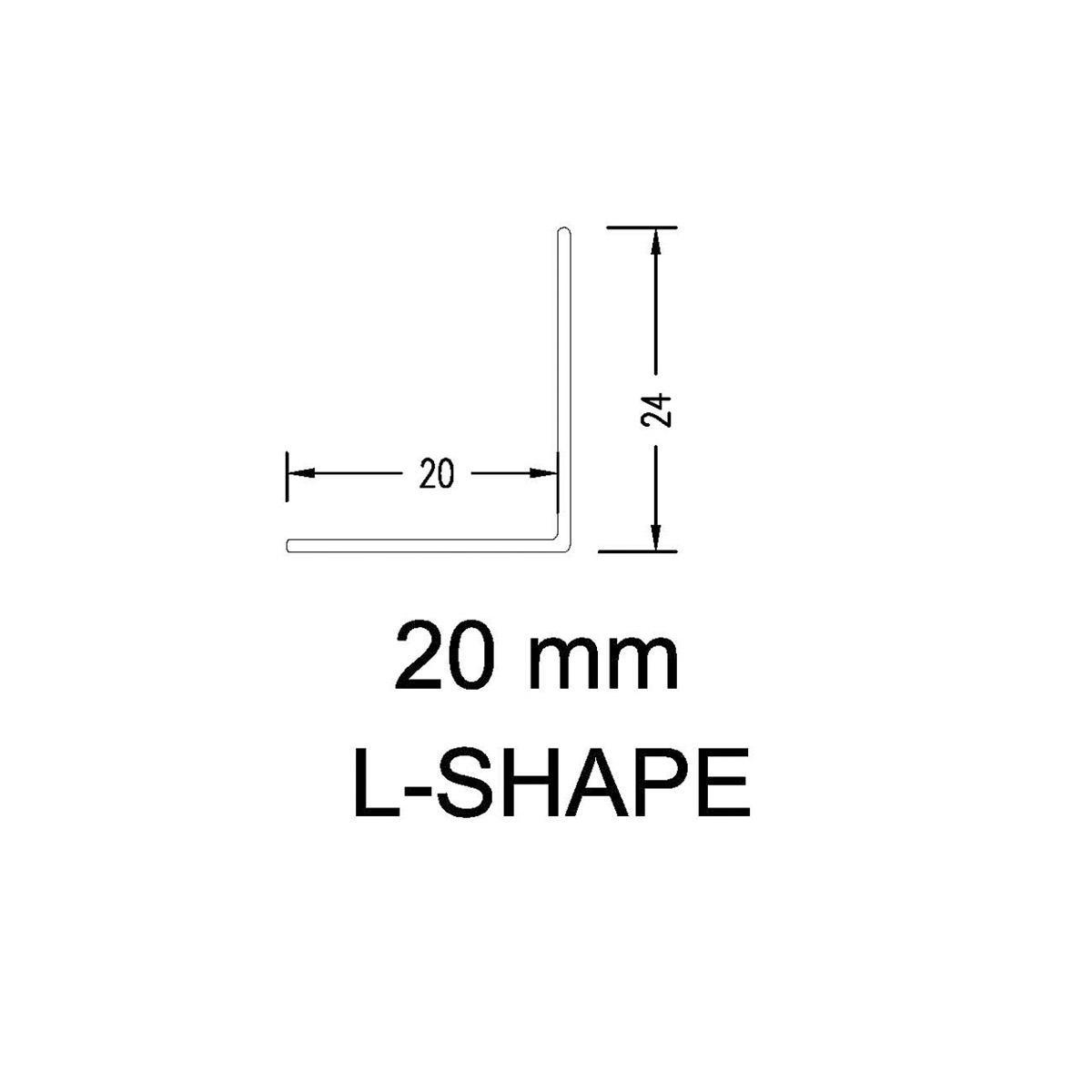 Aluminium Angle 20mm