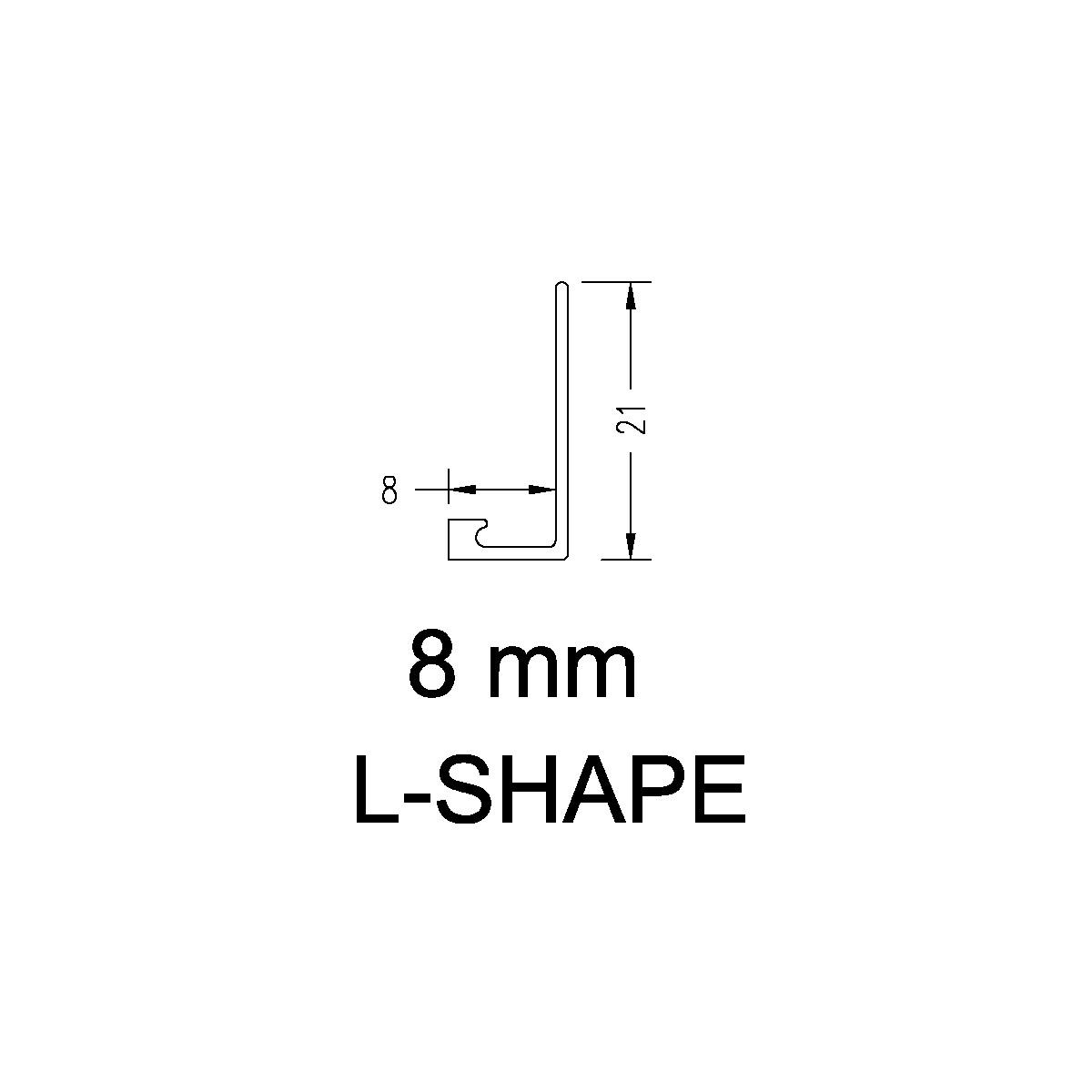 Aluminium Angle – 8mm