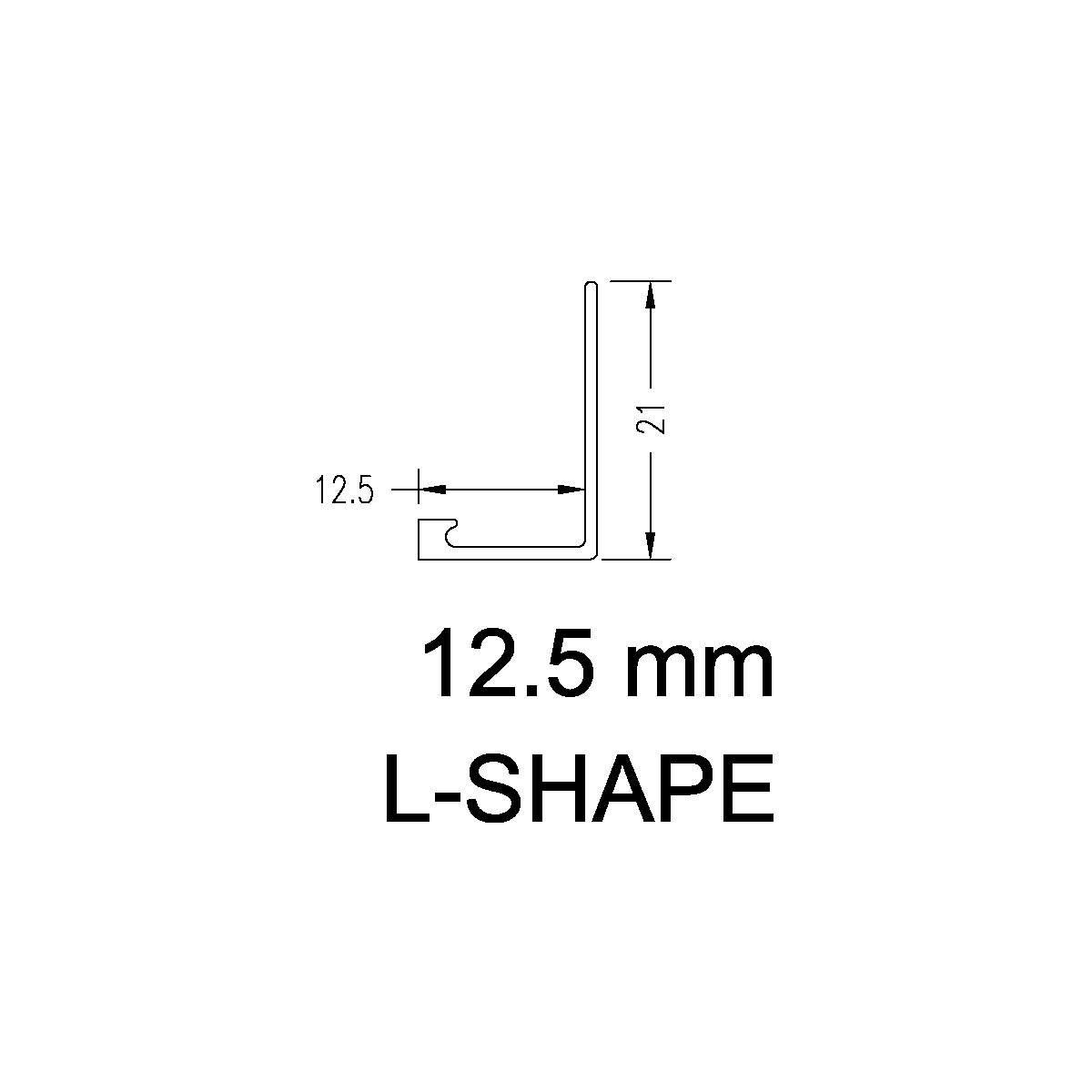 Aluminium Angle – 12.5mm