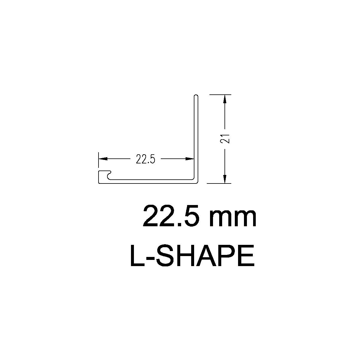Aluminium Angle – 22.5mm
