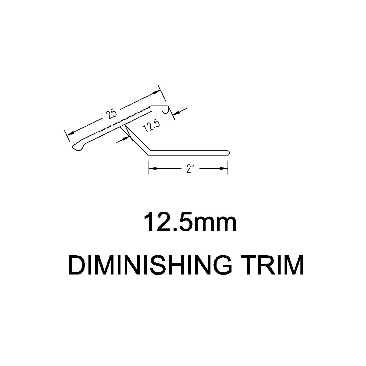 Diminishing Trim – 12mm