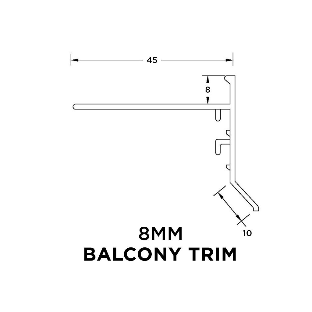 Balcony Trim 8mm x 3m