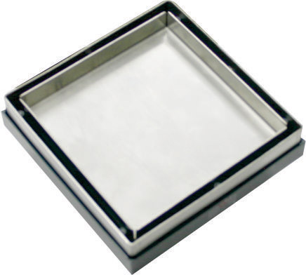 Square tile Insert (Smart tile) Grate 100mm