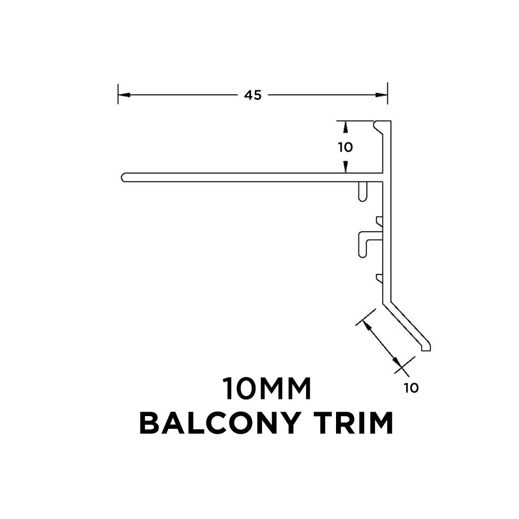 Balcony Trim 10mm x 3m