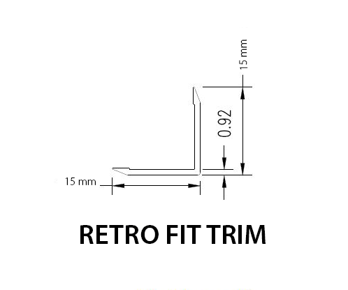 Retro Fit Aluminium Angle – 15mm